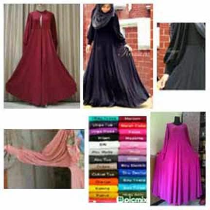 Gamis Jersey Jasmine Dress - Contoh Gamis Bahan Jersey