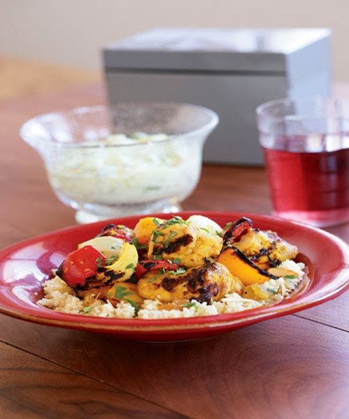 Photo: Lemony Moroccan-Style Chicken Kebabs Recipe