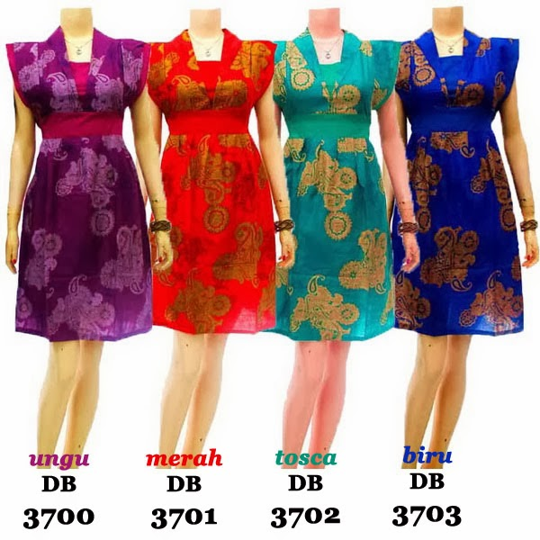 DB3700-3703 Mode Baju Dress Batik Modern Terbaru 2014