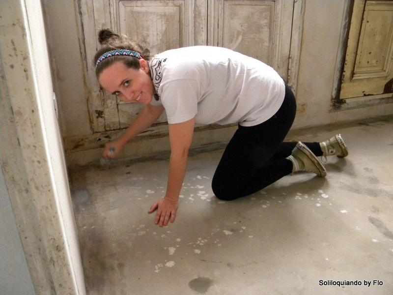 Soliloquiando avance de obra v piso de cemento alisado - Como hacer brillar el piso de cemento ...