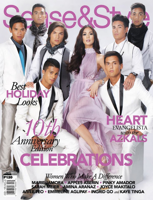 Heart Evangelista and Azkals Cover Sense and Style 10th anniversary Issue