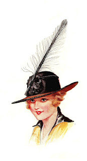 hat fashion women illustration