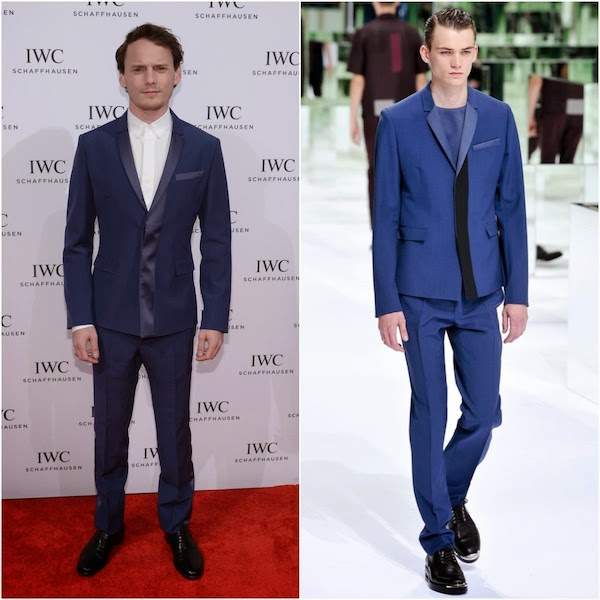 Anton Yelchin in Dior Homme - IWC Schaffhausen And Tribeca Film Festival Host