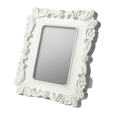 marco blanco de ikea a plata envejecida diy pica pecosa. Black Bedroom Furniture Sets. Home Design Ideas