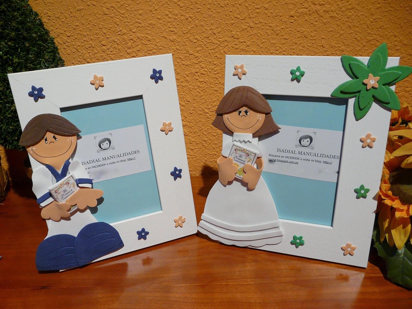 Manualidades isadial portaretratos de primera comunion - Manualidades para comunion ...