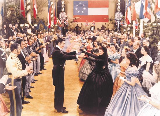 A confederate ball in Gone with the Wind movieloversreviews.blogspot.com