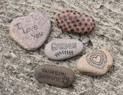 Doodles on stones.