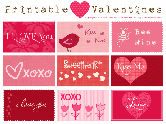 printable downloadable valentine cards – Free Online Printable Valentine Cards