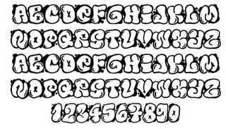 GRAFFITI FONTS: Graffiti Buble Fonts Letters Design