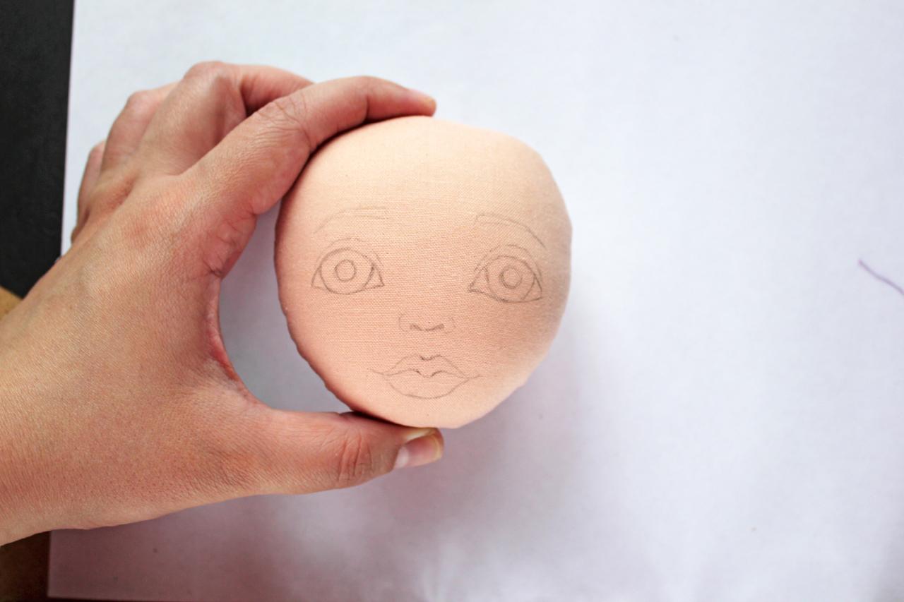 Как нарисовать кукле лицо своими руками 58