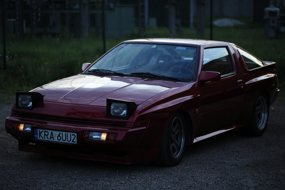Mitsubishi Starion, japoński sportowy samochód, klasyk, lata 80, RWD, turbo