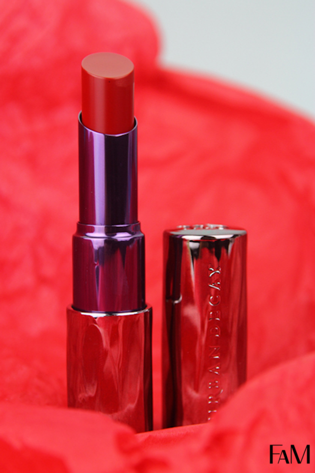 Urban Decay Revolution Lipstick in F-Bomb - Review, Swatches and Demo