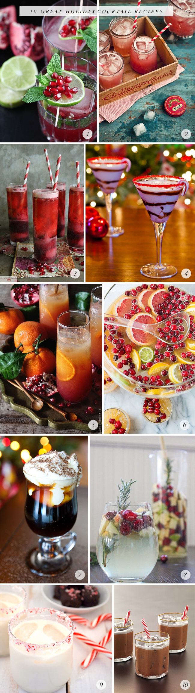 10 Great Holiday Cocktails, via Bubby and Bean