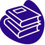 Logo formado por dos libros superpuestos utilizado como referencia al Reglamento del Pádel