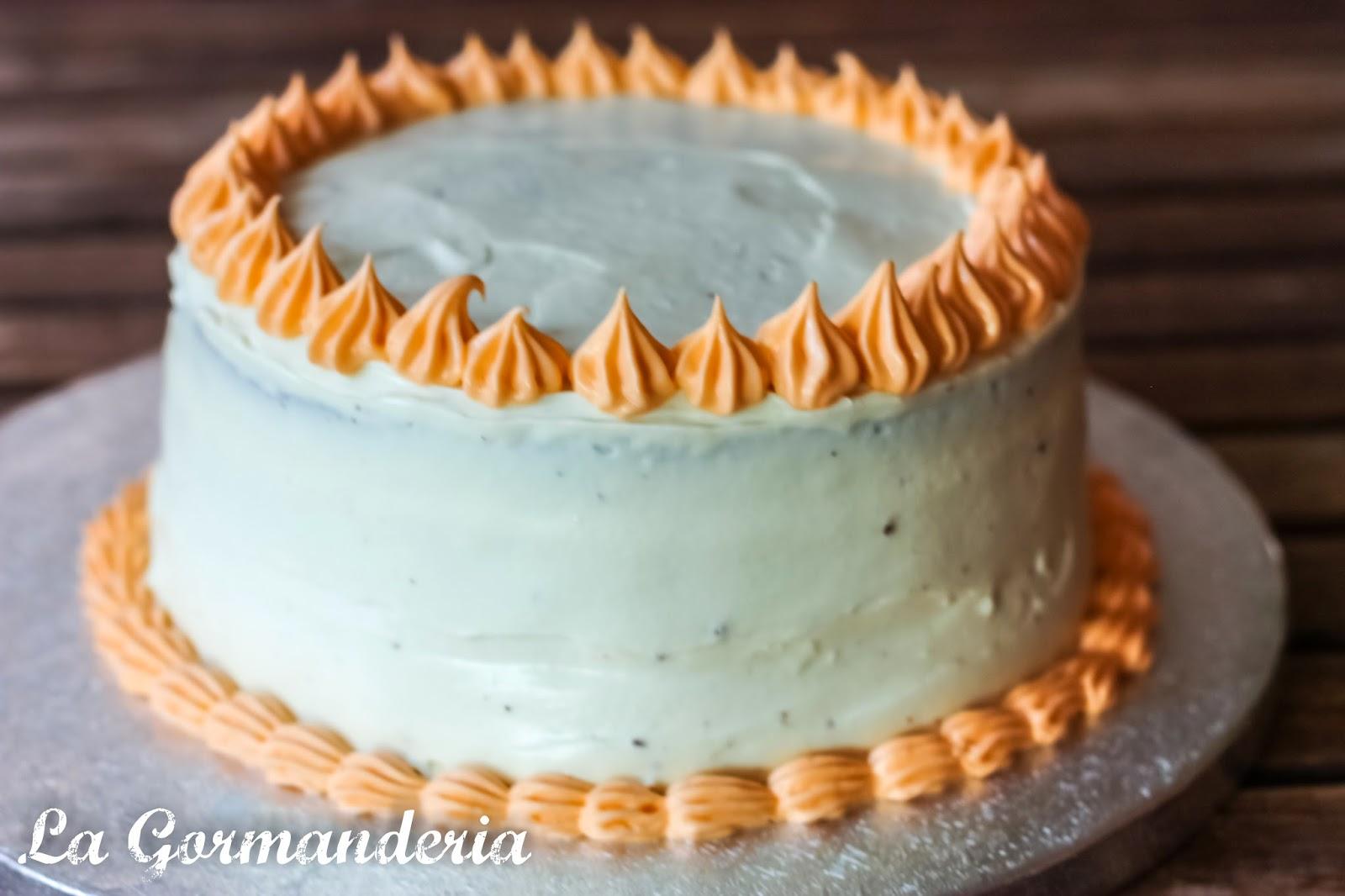 Tarta de chocolate con ganache de chocolate blanco