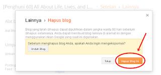 Cara Menghapus Blog Tidak Terpakai