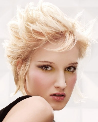 Short Tousled Hair Style 2014