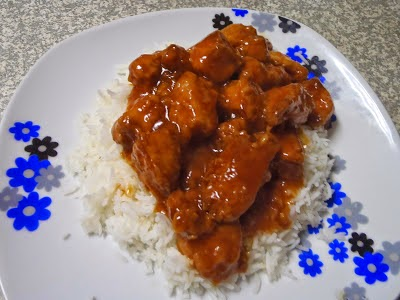 Rice with Sweet and Sour Sauce