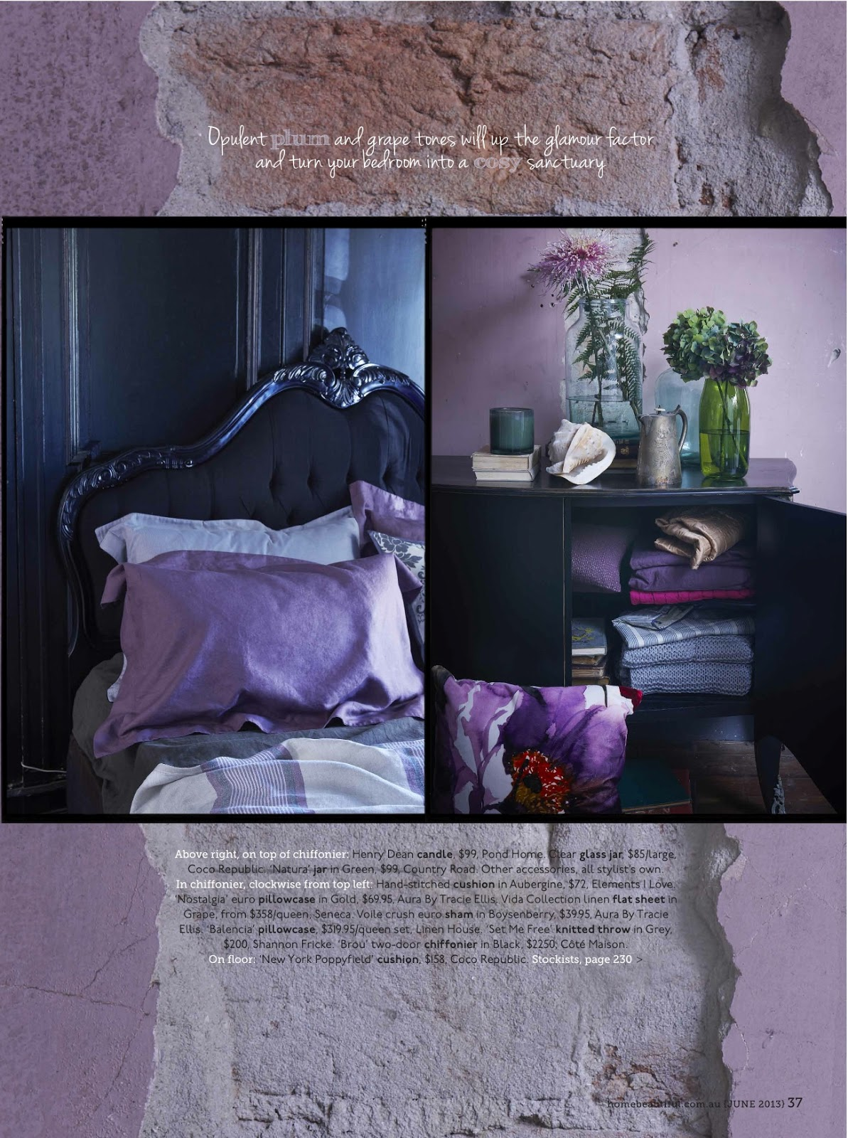 Bed Head Design This Months Home Beautiful Sabine Bedhead
