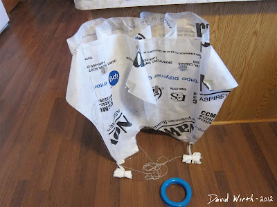 tyvek kite made, asembled, ready to fly