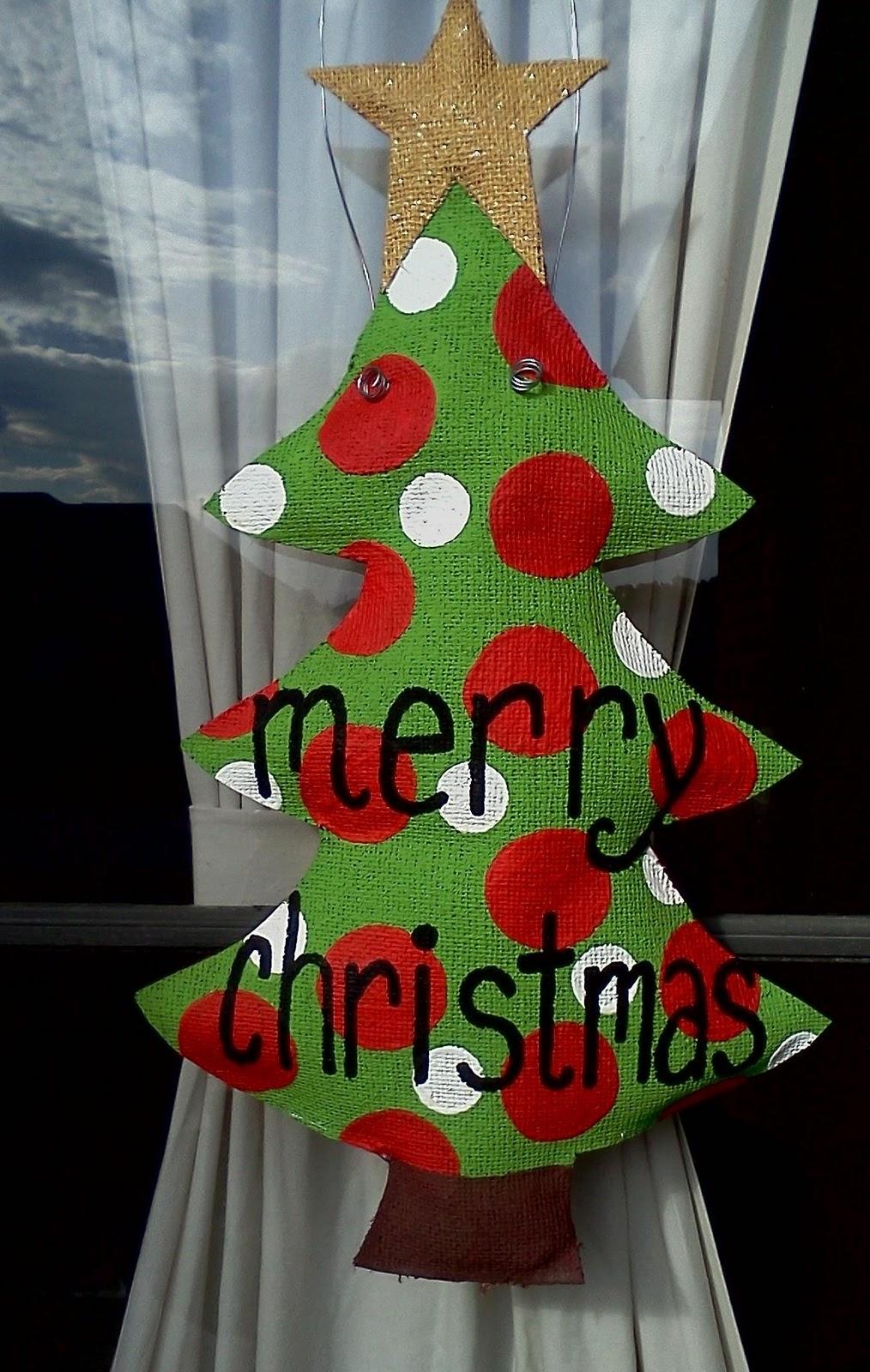 Wooden Door Hangers Christmas Trees On Pinterest Door
