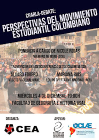 CHARLA DEBATE: PERSPECTIVAS DEL MOVIMIENTO ESTUDIANTIL COLOMBIANO