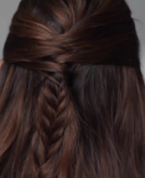 Half Up Hidden Braid