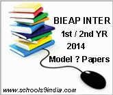 AP Inter 12th Class Previous Papers 2014, AP Intermediate 1st 2nd year Previous  Question Papers, AP 12th Class Model Papers for Telugu/English Medium