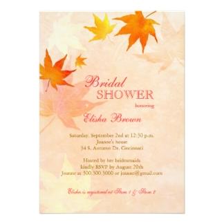 Autumn Wedding Shower Invitations