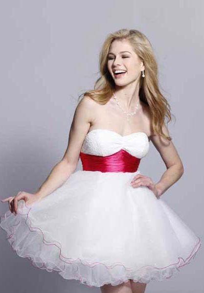 Simple White Short Dresses