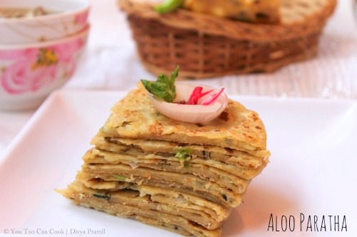Aloo Paratha | Potato Stuffed Indian Flat Bread | Paratha Stuffed with ...