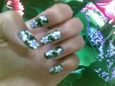 pretty nail art design picture