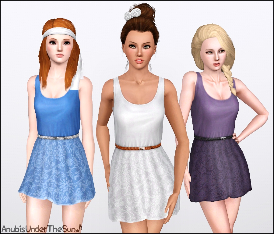 Sims 3 Romantic Rose Dress