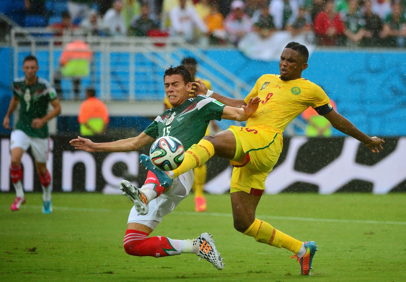 Brazil, Cameroon Captain, Cameroon Squad, Dunas Arena, FIFA World Cup, FIFA World Cup 2014, Football, Group A, Mexico Captain, Mexico Squad, Mexico vs Cameroon, Oribe Peralta, Rafael Marquez, Second Match, Sports,