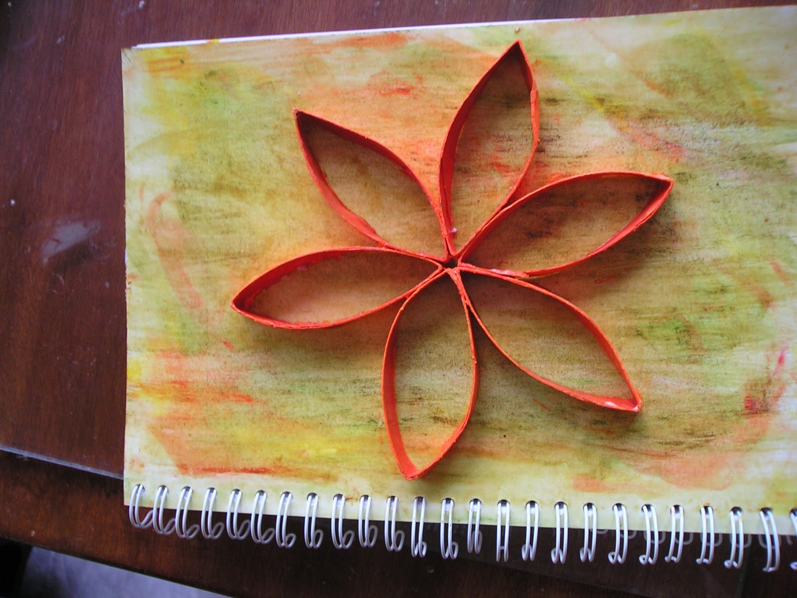 Toilet Roll Flower Notebook Decoration Saving The World One Day At