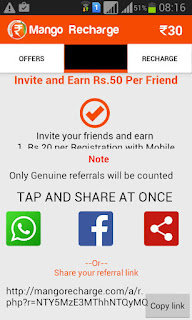 mango recharge refer and earn loot