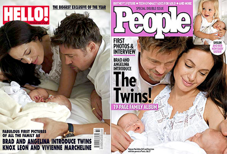 brad pitt and angelina jolie twins daily pictures