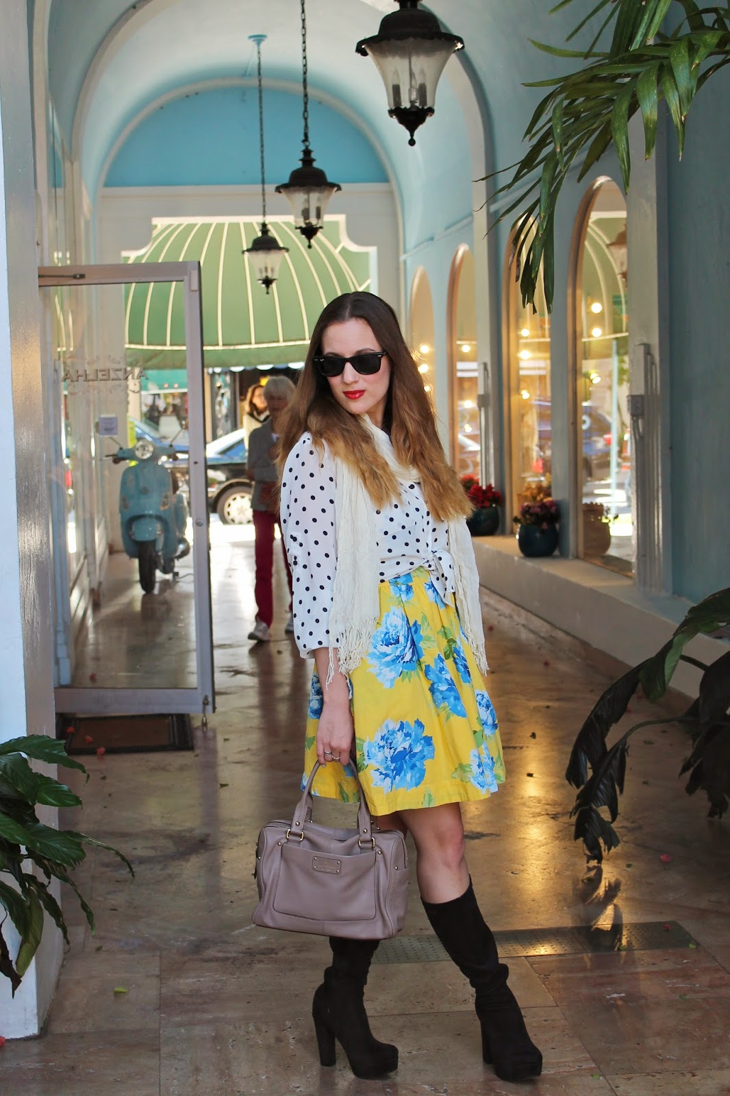 Kate Spade, prep, floral, polka dot, palm beach, fashion blog, Abercrombie&Fitch, Nordstrom, BCBGeneration, floral,
