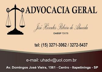 ADVOCACIA GERAL Dr. José Hércules Ribeiro de Almeida OABSP 73175
