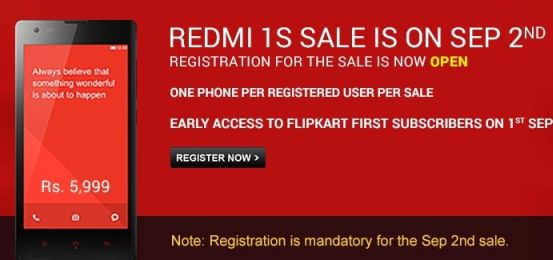 Xiaomi Redmi 1S with 4.7-inch Display Priced Rs.5999