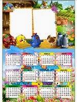 Moldura galinha pintadinha calendário 2014
