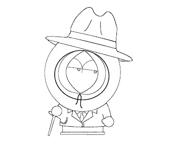 #8 Kenny McCormick Coloring Page