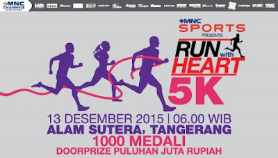 MNC Run With Heart 2015 Jakarta, lomba lari bersama ayu ting ting, robi purba dahsyat