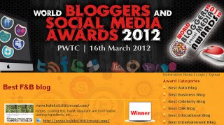 best F&B blog 2012