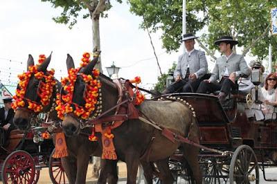 Feria de Abril in Sevilla - paseo de caballos
