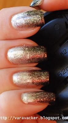 naglar, nails, nagellack, nail polisg, svampning, nyår, nwe year manicure