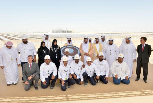 Abu Dhai Sham 1 staff and Abu Dhabi President