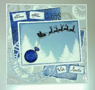 Visible Image stamp santa sleigh time