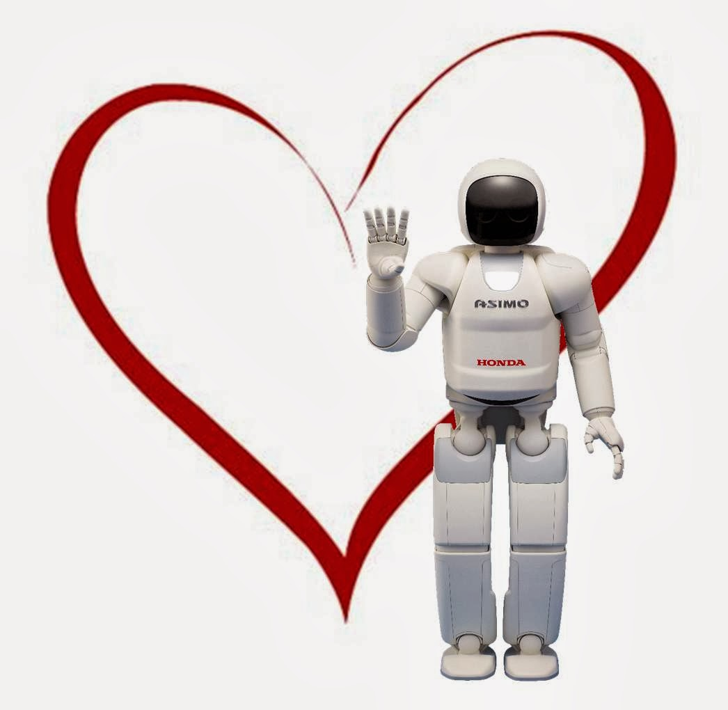 Happy Valentine's Day robots