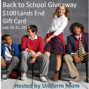 Enter the July 2014 Back to School Giveaway. Ends 7/31.
